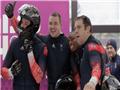 索契奥运会上,英国队四人雪橇获得铜牌